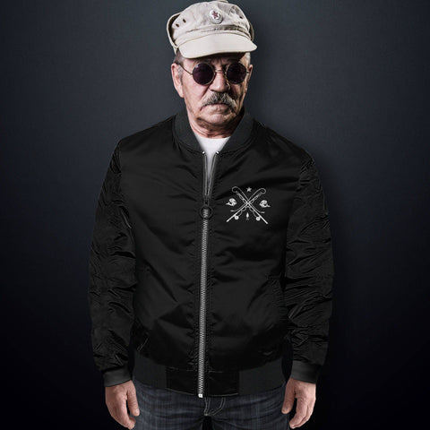 Grumpy Old Fisherman Bomber Jacket Men's Jacket