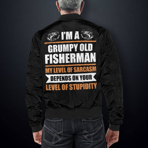 Grumpy Old Fisherman Bomber Jacket