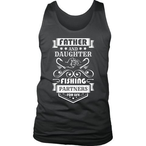 Image of Father and Daughter Fishing Partners T-shirt District Mens Tank Charcoal S