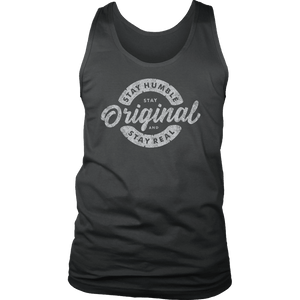 Stay Real, Stay Original Mens Shirts T-shirt District Mens Tank Charcoal S