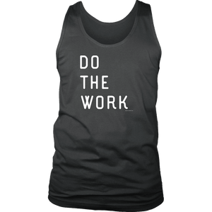 Do The Work | Mens | White Print T-shirt District Mens Tank Charcoal S