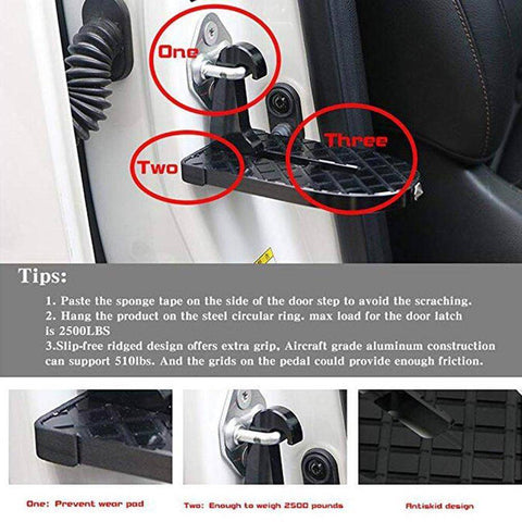 Car Door Latch Step | Easy Access To Your Roof