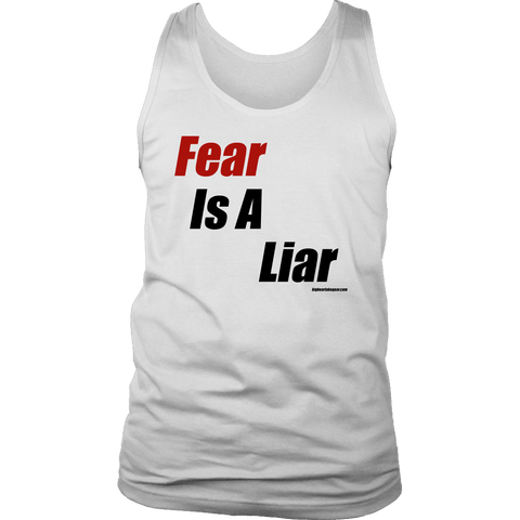 Image of Fear is a Liar, Bold T-shirt District Mens Tank White S