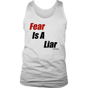Fear is a Liar, Bold T-shirt District Mens Tank White S