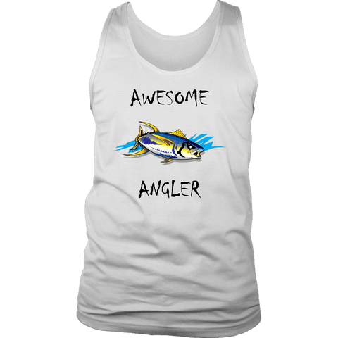 Image of You're An Awesome Angler | V.2 Chiller T-shirt District Mens Tank White S