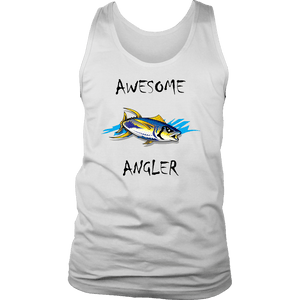 You're An Awesome Angler | V.2 Chiller T-shirt District Mens Tank White S