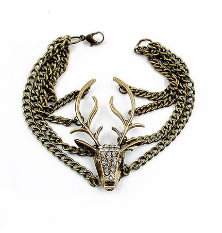 Vintage Retro Deer Head Bracelet
