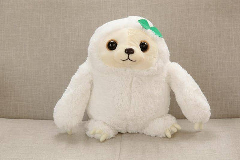 Image of Cute Sloth Plush Toy Stuffed & Plush Animals 15.75 Inches White