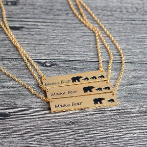Mama Bear Engraved Necklace