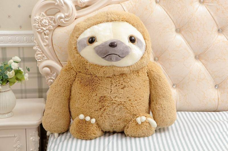Cute Sloth Plush Toy Stuffed & Plush Animals 15.75 Inches Brown