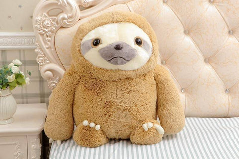 Image of Cute Sloth Plush Toy Stuffed & Plush Animals 15.75 Inches Brown