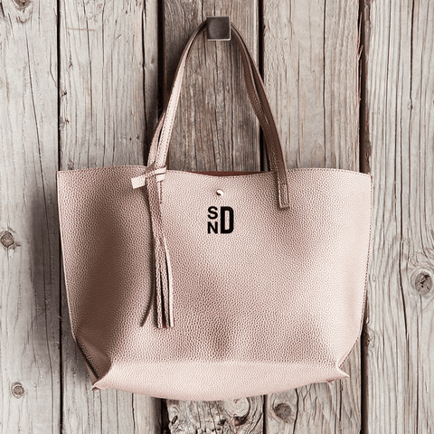 Classic and Elegant Monogramed Handbag | Personalized For You Monogrammed Personalized Products Bronze Curly