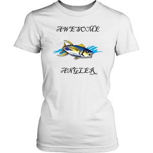 You're An Awesome Angler | V.3 Pirate T-shirt District Womens Shirt White XS