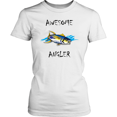 Image of You're An Awesome Angler | V.2 Chiller T-shirt District Womens Shirt White XS