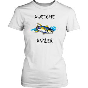 You're An Awesome Angler | V.2 Chiller T-shirt District Womens Shirt White XS