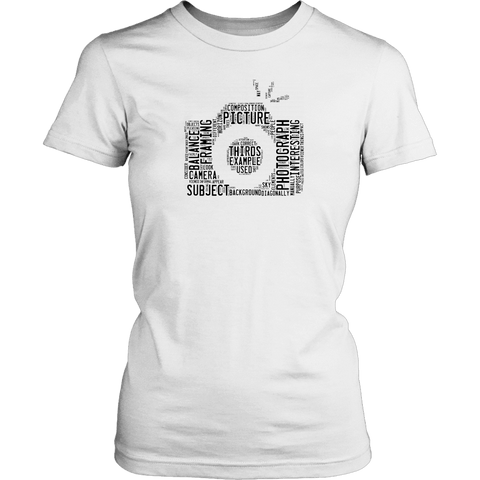 Image of Awesome Word Camera Shirt T-shirt District Womens Shirt White XS