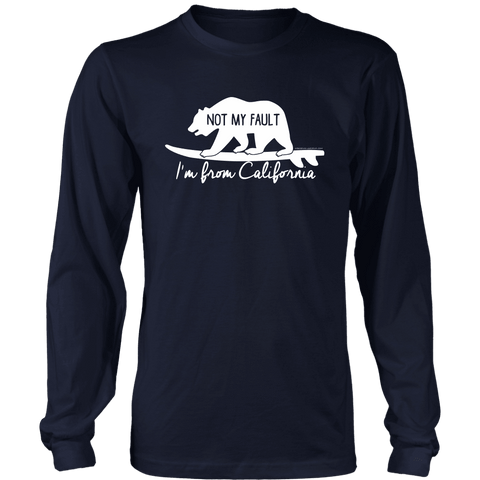 Image of From California T-shirt District Long Sleeve Shirt Navy S