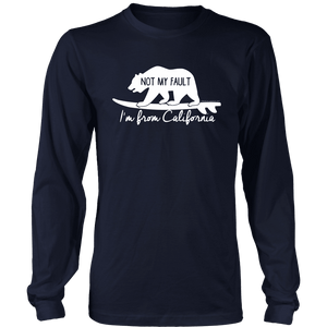 From California T-shirt District Long Sleeve Shirt Navy S