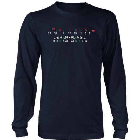Image of Focal Length, District Shirts and Hoodies T-shirt District Long Sleeve Shirt Navy S