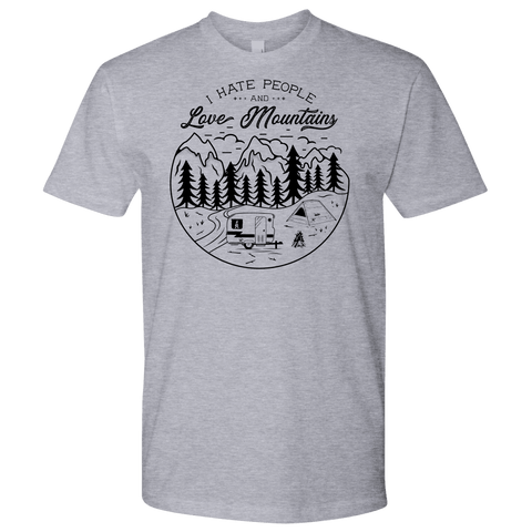 Image of Love The Mountains Mens T-shirt Next Level Mens Shirt Heather Grey S