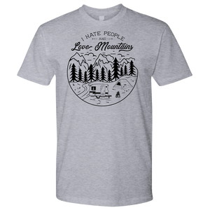 Love The Mountains Mens T-shirt Next Level Mens Shirt Heather Grey S