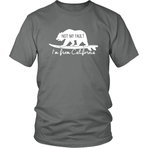 Image of From California T-shirt District Unisex Shirt Grey S