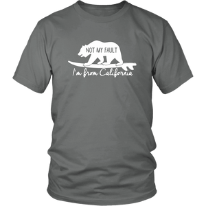 From California T-shirt District Unisex Shirt Grey S