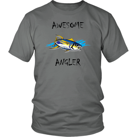Image of You're An Awesome Angler | V.2 Chiller T-shirt District Unisex Shirt Grey S