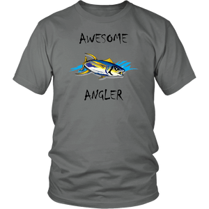 You're An Awesome Angler | V.2 Chiller T-shirt District Unisex Shirt Grey S