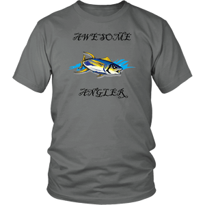 You're An Awesome Angler | V.3 Pirate T-shirt District Unisex Shirt Grey S