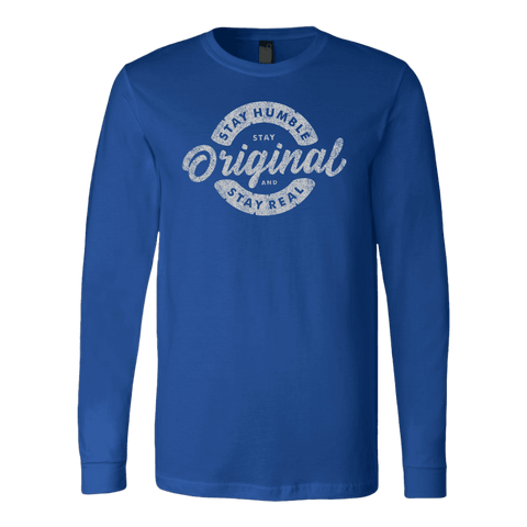 Image of Stay Real, Stay Original | Long Sleeves and Hoodies T-shirt Canvas Long Sleeve Shirt Royal S