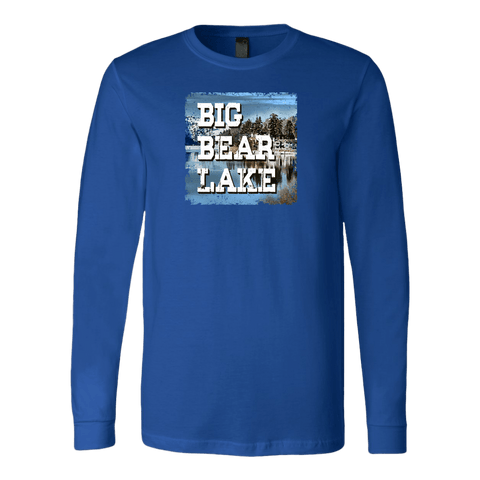 Image of Big Bear Lake V.1 Hoodies and Long Sleeve T-shirt Canvas Long Sleeve Shirt Royal S
