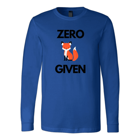 Zero Fox Given T-shirt Canvas Long Sleeve Shirt Royal S