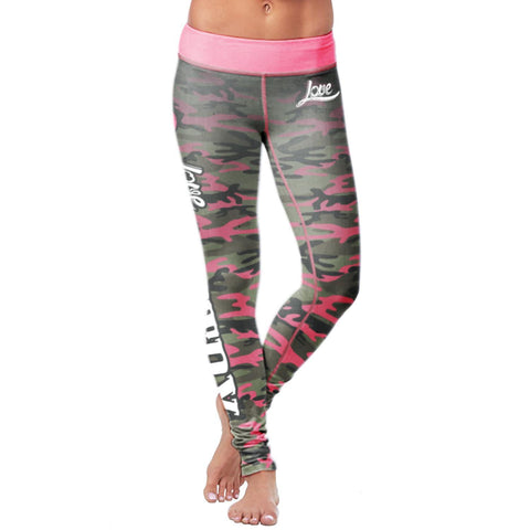 Image of Pink Camo Country Leggings