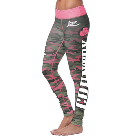 Pink Camo Country Leggings