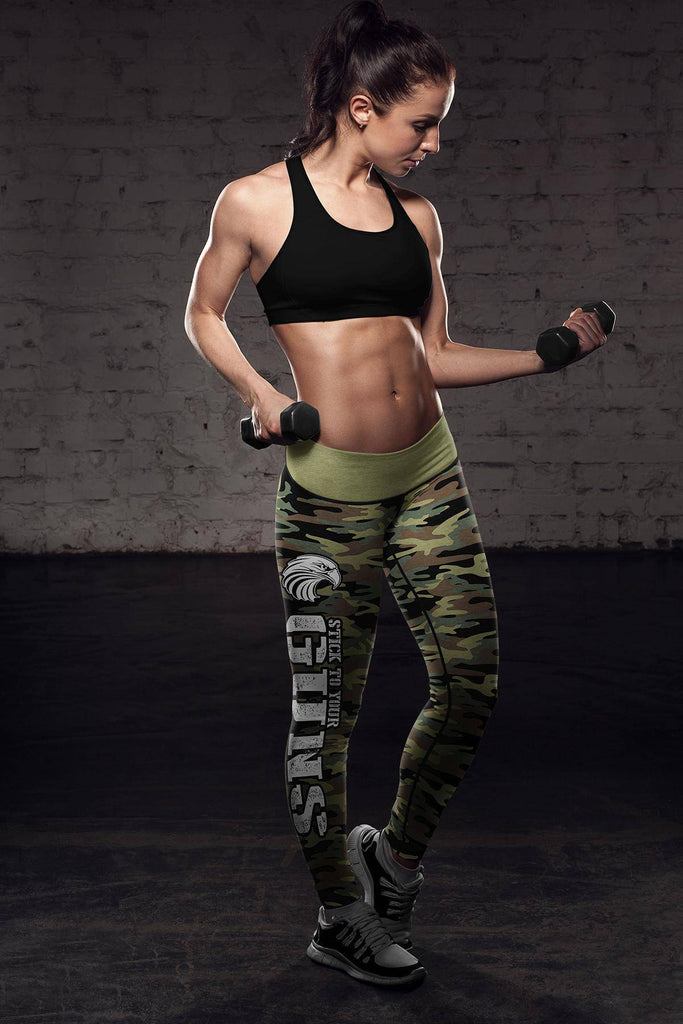 American Patriot Green Camo Leggings Leggings