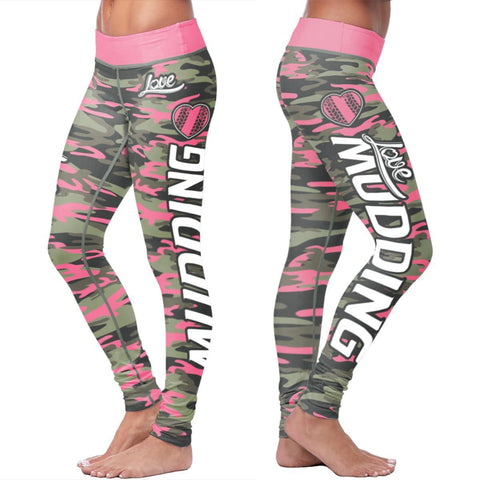 Image of Pink Camo Mudding Leggings Leggings Pink Camo Mudding Leggings S