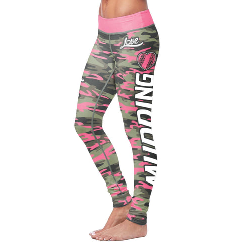 Pink Camo Mudding Leggings Leggings