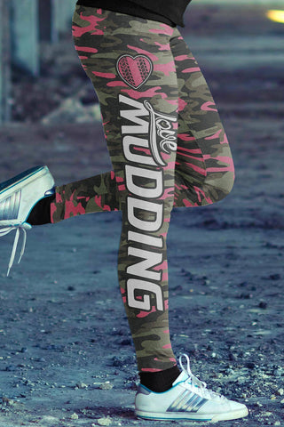 Image of Pink Camo Mudding Leggings