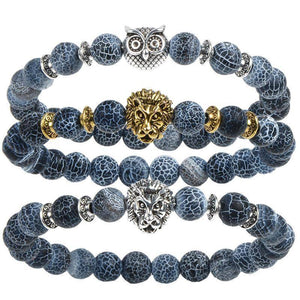 Cool Animal Bracelet with Lava Stone Beads Charm Bracelets