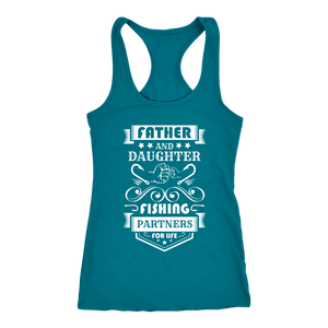 Father and Daughter Fishing Partners T-shirt Next Level Racerback Tank Turquoise XS