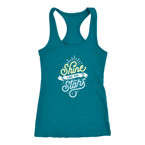 Shine Like The Stars T-shirt Next Level Racerback Tank Turquoise XS