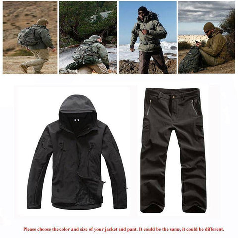 Image of Outdoor Softshell Jacket and Pants Hiking Jackets