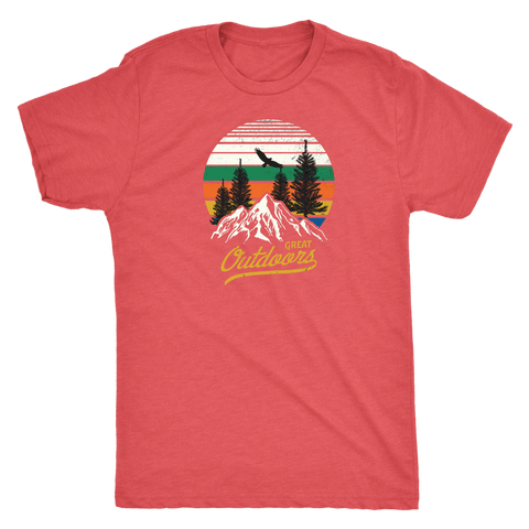 Great Outdoors Shirts | Mens T-shirt Next Level Mens Triblend Vintage Red S