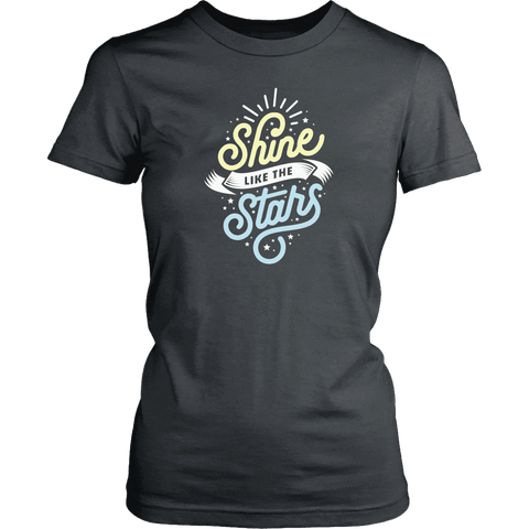 Shine Like The Stars T-shirt District Womens Shirt Charcoal XS