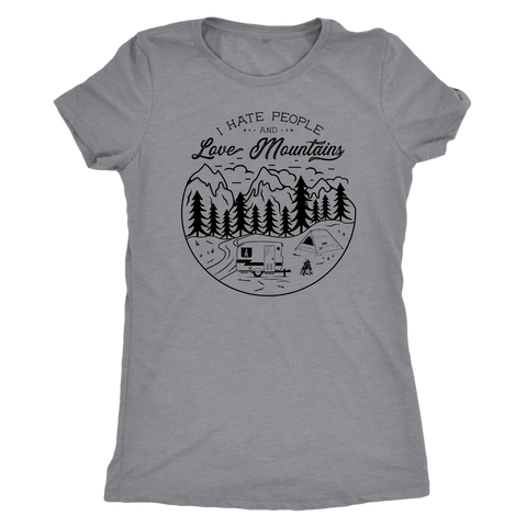 Image of Love The Mountains Womens T-shirt Next Level Womens Triblend Heather Grey S