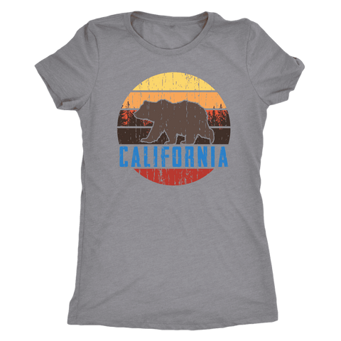 Image of Big Bear California Shirt V.1, Womens Shirts T-shirt Next Level Womens Triblend Heather Grey S