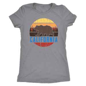 Big Bear California Shirt V.1, Womens Shirts T-shirt Next Level Womens Triblend Heather Grey S