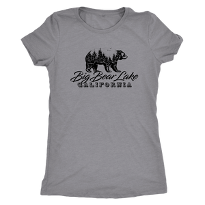 Big Bear Lake California V.2, Womens, Black T-shirt Next Level Womens Triblend Heather Grey S