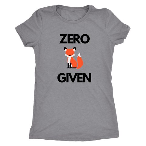 Image of Zero Fox Given T-shirt Next Level Womens Triblend Heather Grey S